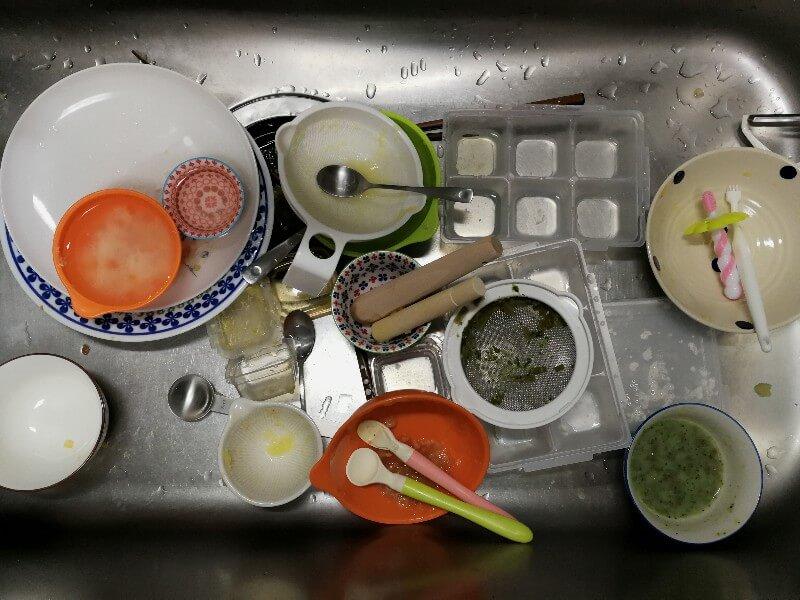 離乳食後の台所