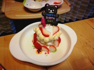 1才誕生日ケーキ 食パンで手作り