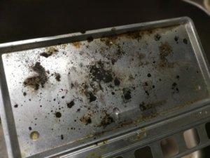 トースターを重曹で掃除したらきれいになった